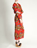 Issey Miyake Pleats Please Vintage Chinese Print Two Piece Top & Skirt Ensemble - Amarcord Vintage Fashion  - 6