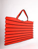 Issey Miyake Vintage Red & Black Felt Accordion Pleated Oversized Bag - Amarcord Vintage Fashion  - 2
