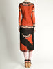 Jean Paul Gaultier Vintage Black & Rust Floral Mesh Dress - Amarcord Vintage Fashion  - 5