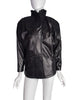 Jean Claude Jitrois Vintage Black Leather Embroidered Applique Jacket