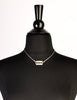 Jean Paul Gaultier Vintage Sterling Silver Razor Blade Necklace