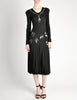 Jean Muir Vintage Black Pleated Sequin Dress - Amarcord Vintage Fashion  - 4