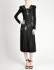 Jean Muir Vintage Black Pleated Sequin Dress - Amarcord Vintage Fashion  - 2