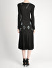 Jean Muir Vintage Black Pleated Sequin Dress - Amarcord Vintage Fashion  - 8