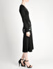 Jean Muir Vintage Black Pleated Sequin Dress - Amarcord Vintage Fashion  - 9
