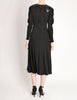 Jean Muir Vintage Black Jersey and Leather Dress