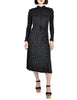 Jean Muir Vintage Collared Black Graphic Print Jersey Dress - Amarcord Vintage Fashion  - 1