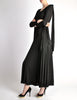Jean Muir Vintage Black Slinky Shoulder Drape Panel Dress - Amarcord Vintage Fashion  - 5