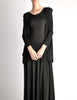 Jean Muir Vintage Black Slinky Shoulder Drape Panel Dress - Amarcord Vintage Fashion  - 3