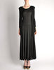 Jean Muir Vintage Black Slinky Shoulder Drape Panel Dress - Amarcord Vintage Fashion  - 2