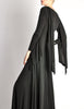 Jean Muir Vintage Black Slinky Shoulder Drape Panel Dress - Amarcord Vintage Fashion  - 6