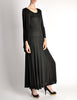 Jean Muir Vintage Black Slinky Shoulder Drape Panel Dress - Amarcord Vintage Fashion  - 7