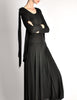 Jean Muir Vintage Black Slinky Shoulder Drape Panel Dress - Amarcord Vintage Fashion  - 8