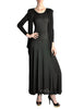 Jean Muir Vintage Black Slinky Shoulder Drape Panel Dress - Amarcord Vintage Fashion  - 1