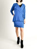 Jean Muir Vintage Cobalt Blue Wool Crepe Draping Wrap Jacket and Skirt Set Ensemble - Amarcord Vintage Fashion  - 2