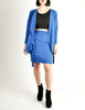 Jean Muir Vintage Cobalt Blue Wool Crepe Draping Wrap Jacket and Skirt Set Ensemble - Amarcord Vintage Fashion  - 3