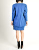 Jean Muir Vintage Cobalt Blue Wool Crepe Draping Wrap Jacket and Skirt Set Ensemble - Amarcord Vintage Fashion  - 7