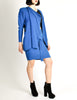 Jean Muir Vintage Cobalt Blue Wool Crepe Draping Wrap Jacket and Skirt Set Ensemble - Amarcord Vintage Fashion  - 8