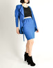 Jean Muir Vintage Cobalt Blue Wool Crepe Draping Wrap Jacket and Skirt Set Ensemble - Amarcord Vintage Fashion  - 6