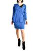 Jean Muir Vintage Cobalt Blue Wool Crepe Draping Wrap Jacket and Skirt Set Ensemble - Amarcord Vintage Fashion  - 1