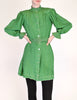 Jean Muir Vintage Green Geometric Button Up Tunic Dress - Amarcord Vintage Fashion  - 3