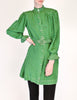 Jean Muir Vintage Green Geometric Button Up Tunic Dress - Amarcord Vintage Fashion  - 6