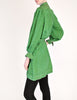 Jean Muir Vintage Green Geometric Button Up Tunic Dress - Amarcord Vintage Fashion  - 5