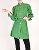 Jean Muir Vintage Green Geometric Button Up Tunic Dress - Amarcord Vintage Fashion  - 2