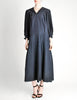 Jean Muir Vintage Navy Blue Moire Dress - Amarcord Vintage Fashion  - 2
