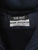 Jean Muir Vintage Navy Blue Moire Dress - Amarcord Vintage Fashion  - 8