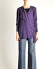 Jean Muir Vintage Purple Wool Crepe Draping Wrap Jacket - Amarcord Vintage Fashion  - 2