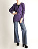 Jean Muir Vintage Purple Wool Crepe Draping Wrap Jacket - Amarcord Vintage Fashion  - 3