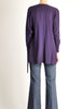 Jean Muir Vintage Purple Wool Crepe Draping Wrap Jacket - Amarcord Vintage Fashion  - 7