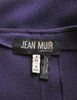 Jean Muir Vintage Purple Wool Crepe Draping Wrap Jacket - Amarcord Vintage Fashion  - 8