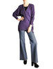 Jean Muir Vintage Purple Wool Crepe Draping Wrap Jacket - Amarcord Vintage Fashion  - 1