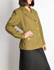 Jean Paul Gaultier Vintage Green Wool Military Blazer Jacket