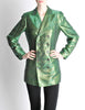 Jean Paul Gaultier Vintage Metallic Green Jacket - Amarcord Vintage Fashion  - 3