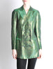 Jean Paul Gaultier Vintage Metallic Green Jacket - Amarcord Vintage Fashion  - 4