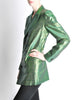 Jean Paul Gaultier Vintage Metallic Green Jacket - Amarcord Vintage Fashion  - 5