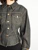 Jean Paul Gaultier Vintage Dark Denim Peplum Jean Jacket