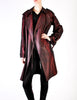 Jean Paul Gaultier Vintage Metallic Maroon Alligator Print Trench Coat - Amarcord Vintage Fashion  - 3