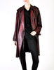 Jean Paul Gaultier Vintage Metallic Maroon Alligator Print Trench Coat - Amarcord Vintage Fashion  - 4