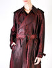 Jean Paul Gaultier Vintage Metallic Maroon Alligator Print Trench Coat - Amarcord Vintage Fashion  - 5