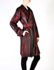 Jean Paul Gaultier Vintage Metallic Maroon Alligator Print Trench Coat - Amarcord Vintage Fashion  - 7