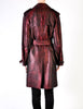 Jean Paul Gaultier Vintage Metallic Maroon Alligator Print Trench Coat - Amarcord Vintage Fashion  - 9