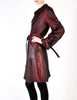 Jean Paul Gaultier Vintage Metallic Maroon Alligator Print Trench Coat - Amarcord Vintage Fashion  - 8