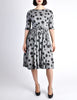 Jerry Gilden Vintage 1950s Heather Grey & Black Polka Dot Dress - Amarcord Vintage Fashion  - 2