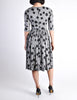 Jerry Gilden Vintage 1950s Heather Grey & Black Polka Dot Dress - Amarcord Vintage Fashion  - 8