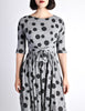 Jerry Gilden Vintage 1950s Heather Grey & Black Polka Dot Dress - Amarcord Vintage Fashion  - 5