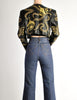 Jean-Claude Jitrois Vintage Genie Bottle Black & Gold Cropped Leather Jacket - Amarcord Vintage Fashion  - 3